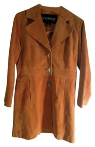 Outerwear by Lisa Suede Trench Coat