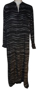 Donna Karan DKNY lounge maxi shirt dress