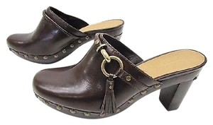 Coach Leather Shasha Brown Mules