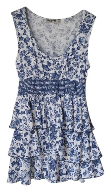 Preload https://img-static.tradesy.com/item/926586/sfera-blue-and-white-floral-tiered-blouse-size-0-xs-0-0-650-650.jpg