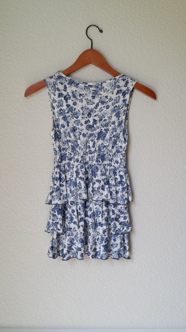 Sfera Rayon Top Blue and White