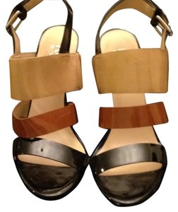 Michael Kors Black/Brown/Tan Sandals