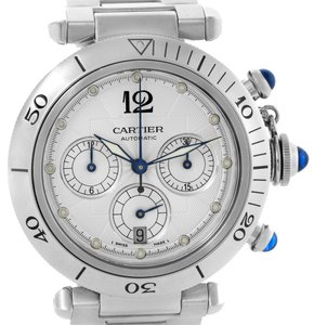 Cartier Cartier Pasha Seatimer Chronograph Steel Mens Watch W31030H3