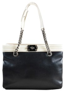 Chanel Gst Grand Shopping Boy Classic Tote in Black White