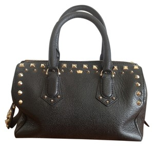 Henri Bendel Studded Satchel in Black