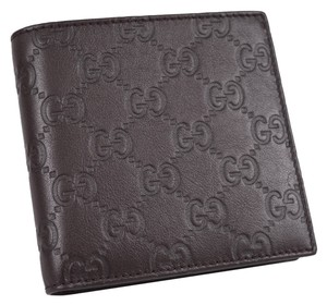 66121b7048fc Gucci Men's 150413 Brown Leather GG Guccissima Coin Pocket Bifold Wallet