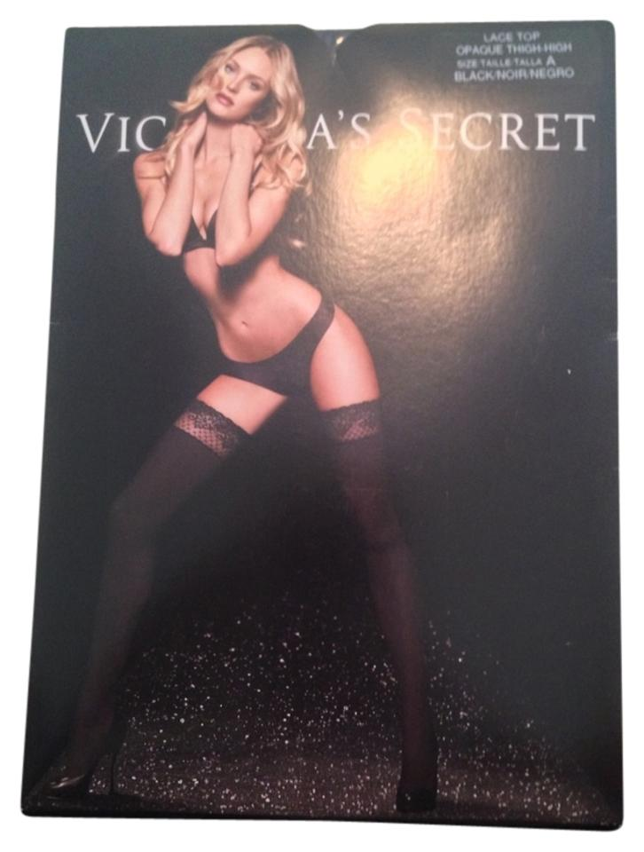 eb4368c16ea86 Victoria's Secret Victoria's Secret Lace Top Opaque Thigh High Image 0 ...