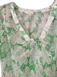 Odille Top Green/white Floral