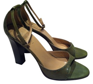 Gucci Mary Jane Leather Green Sandals