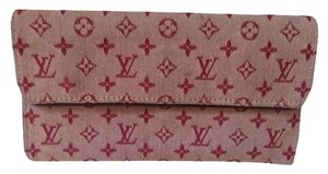 Louis Vuitton REDUCED! LOUIS VUITTON RED MINI LIN CONTINENTAL WALLETT. GREAT CONDITION!