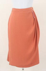 Evan Picone Gathered Front Skirt Dark Peach