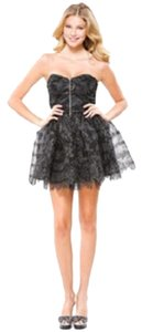 Betsey Johnson Lace Metallic Petticoat Tulle Fitted Cocktai Party Dress