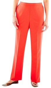 Alfred Dunner Pull-on Styling Elastic Waist Trouser Pants Red