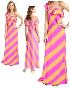 Multi-colored Maxi Dress by Lilly Pulitzer Off-shoulder Striped Jersey
