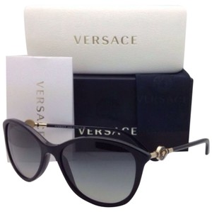 Versace New VERSACE Sunglasses VE 4251 GB1/11 57-17 Black Frame w/ Grey gradient lenses