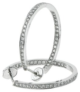 Cartier Cartier Monica Hoop Diamond Earrings.