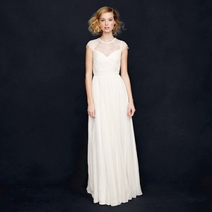 J.Crew Ivory Silk Chiffon New Beatriz Formal Wedding Dress Size 0 (XS)