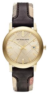 Burberry NWT Burberry The City Gold-Tone Leather Watch BU9032