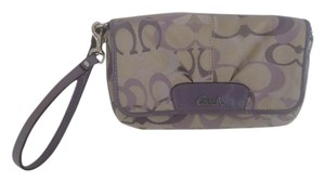 Coach Large Wristlet Purple Tri C
