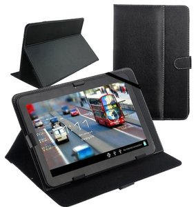 Black 10 inch Folio Stand Case Cover for 10'' 10.1