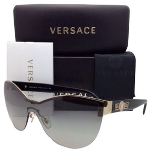 Versace New VERSACE Sunglasses VE 2144 1252/11 Pale Gold Cat-Eye Frame w/ Grey Gradient Lenses