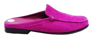 Tod's Suede Slip On Flats Loafers Sz 8 M Violet Casual Purple Mules
