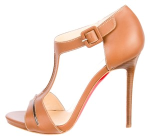 Christian Louboutin Never worn tan Sandals