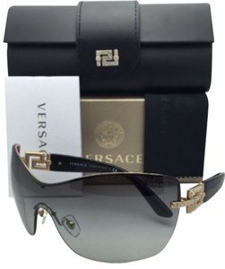 Versace New VERSACE Sunglasses Shield VE 2156-B 1002/11 Bordeaux Frame w/ Grey Gradient Lenses