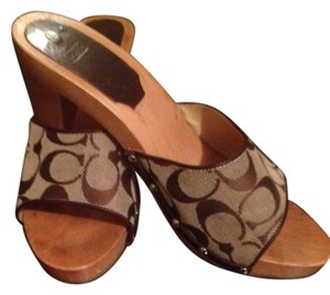 Coach #sandal #shoe #spring #summer #mule #justreduced beige and brown c Mules