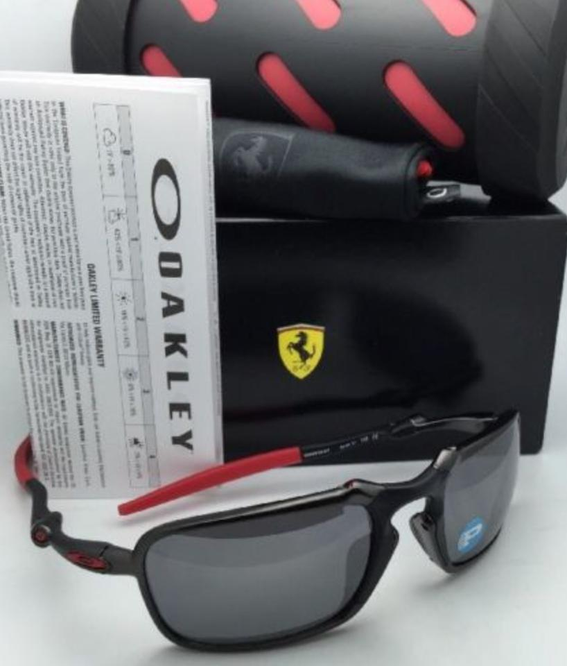 dac61ac2c7 Oakley Badman Oo6020-07 Carbon   Red Frame W Black Iridium Lenses Polarized  Scuderia Ferrari W Black Sunglasses - Tradesy