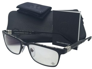 Chrome Hearts New CHROME HEARTS Eyeglasses SLAPNUTS I BB-CTEK 55-17 Brushed Black Frame w/ CTEK Temples