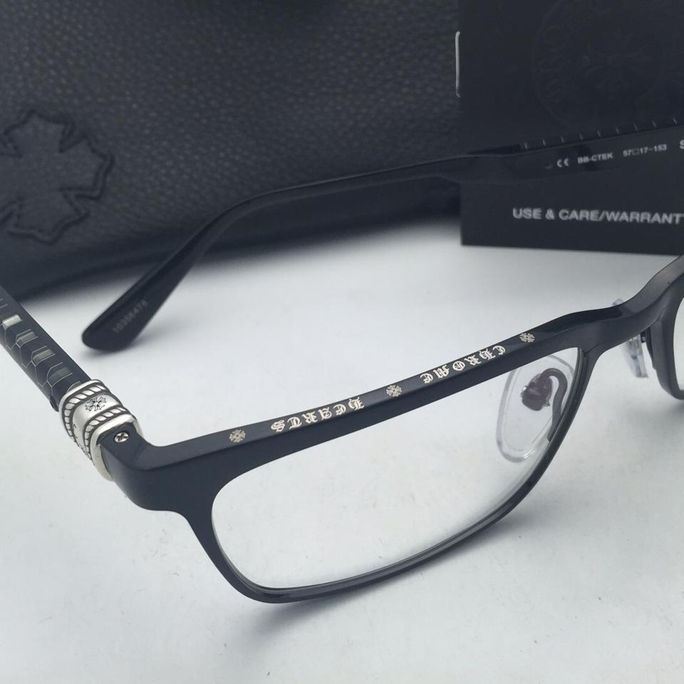 Chrome Hearts Brushed Black Frame Bb-ctek New Eyeglasses Slapnuts 55 ...