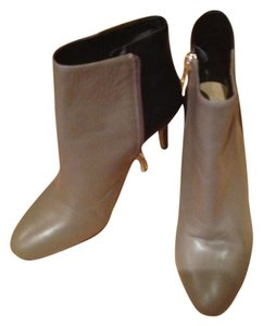 Ann Taylor Leather Black BLACK/TAUPE Boots