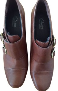 Clarks Leather Bootie Brown Boots