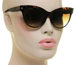 Women Vintage Fashion Brown Tortoise Cat Eye Shades Retro Sunglasses