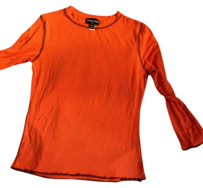 Preload https://item1.tradesy.com/images/daniela-corte-orange-stretch-long-sleeves-medium-by-sale-tee-shirt-size-10-m-927560-0-0.jpg?width=400&height=650