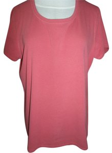 Faded Glory Cotton Blend Short Sleeve T Shirt Rose Salmon