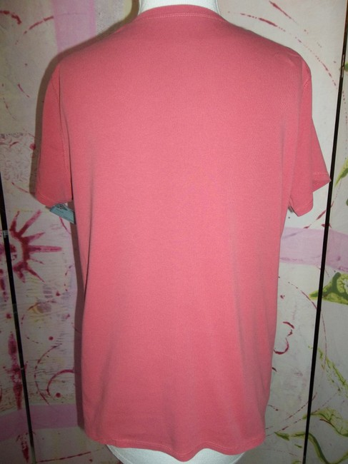 Faded Glory Cotton Blend Short Sleeve Xlarge Stretch T Shirt Rose Salmon