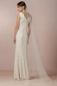 BHLDN Ivory Long Sky Mist Bridal Veil