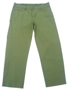 Christopher Blue Casual Stretchy Mid-rise Sporty Capris Green