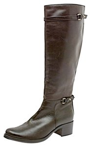 L.K. Bennett Knee High Buckle Leather Black Boots