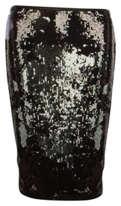 Dorothy Perkins Skirt Black and Silver
