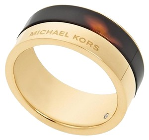 Michael Kors SET-Tortoise Color-Blocked Ring & Tortoise-Print Link Bracelet