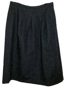 Prada Vintage Wool Skirt Gray
