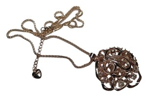 Betsey Johnson Betsey Johnson Rose Pendant NecklaceN012