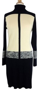 Narciso Rodriguez short dress Black and Ivory Color Sweater Cotton on Tradesy
