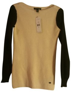 Ralph Lauren Comfortable Long Sleeve 60% Cotton 40% Modal Hand Wash Two-toned X-small/ Small Rll Silver Emblem Sweater