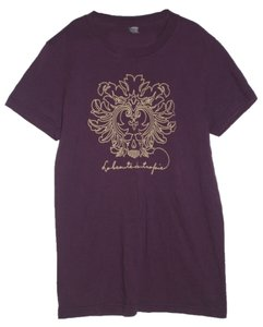 American Apparel T Shirt Purple and Gold