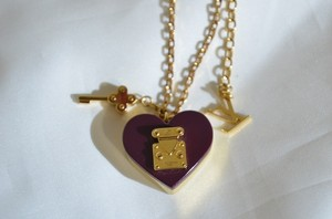 Louis Vuitton Louis Vuitton Heart Padlock Lockit Pendant Chain Necklace