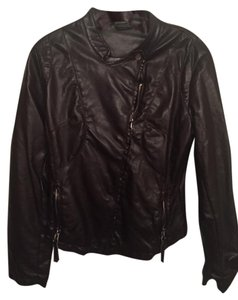 Matty M Faux Leather chocolate brown Leather Jacket